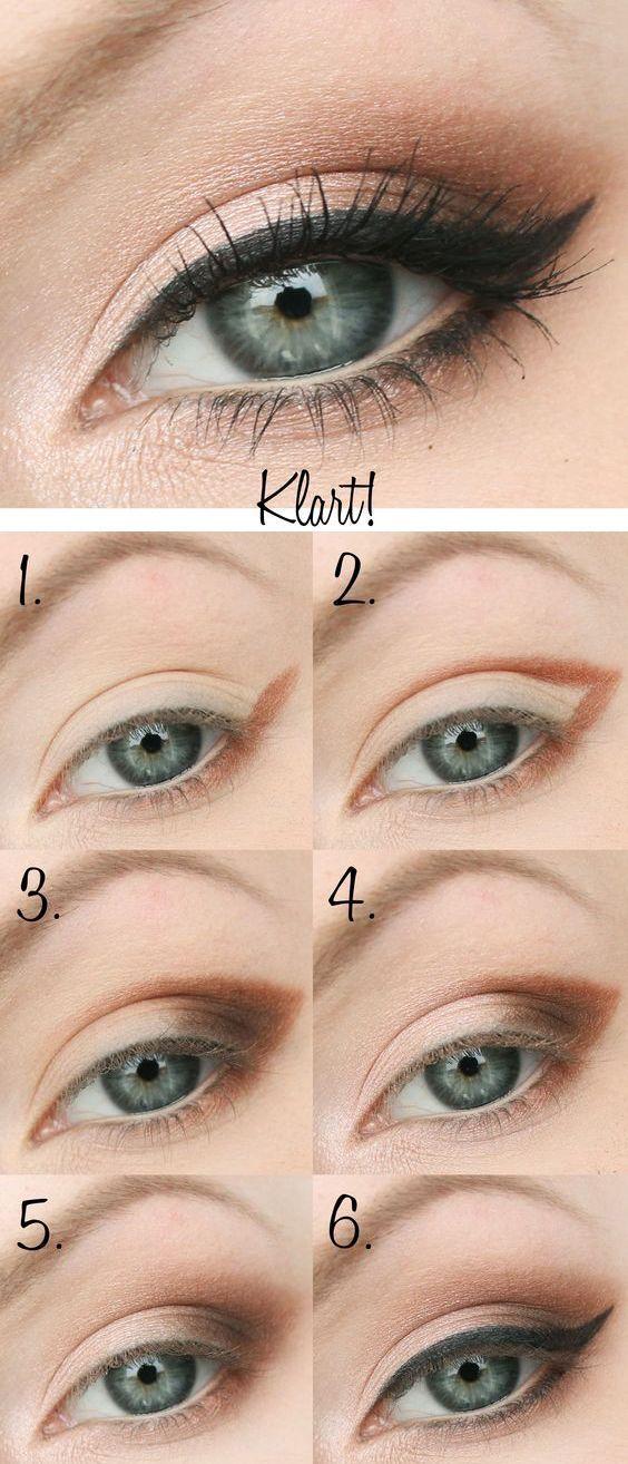 денний макіяж для зелених очей поетапно