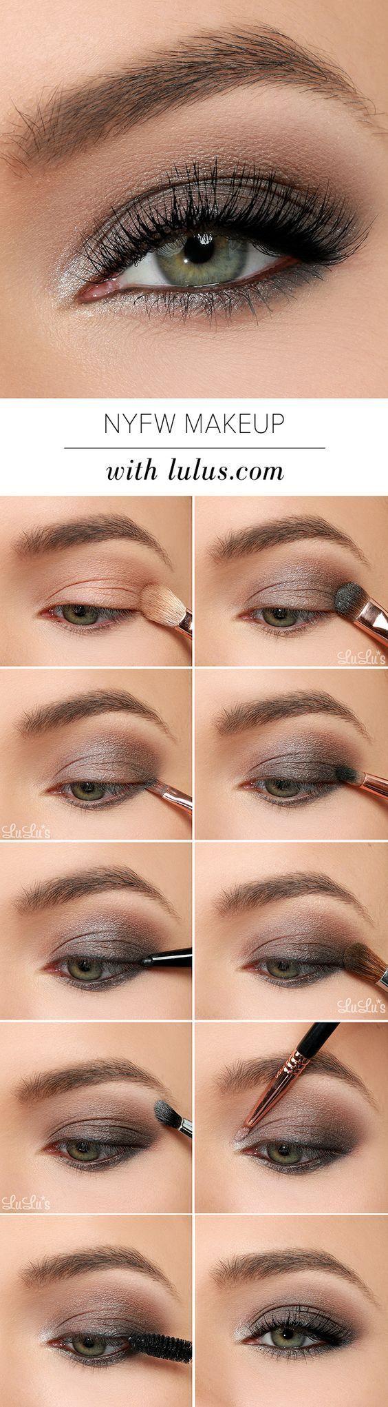 покрокове фото нанесення макіяжу для зелених очей