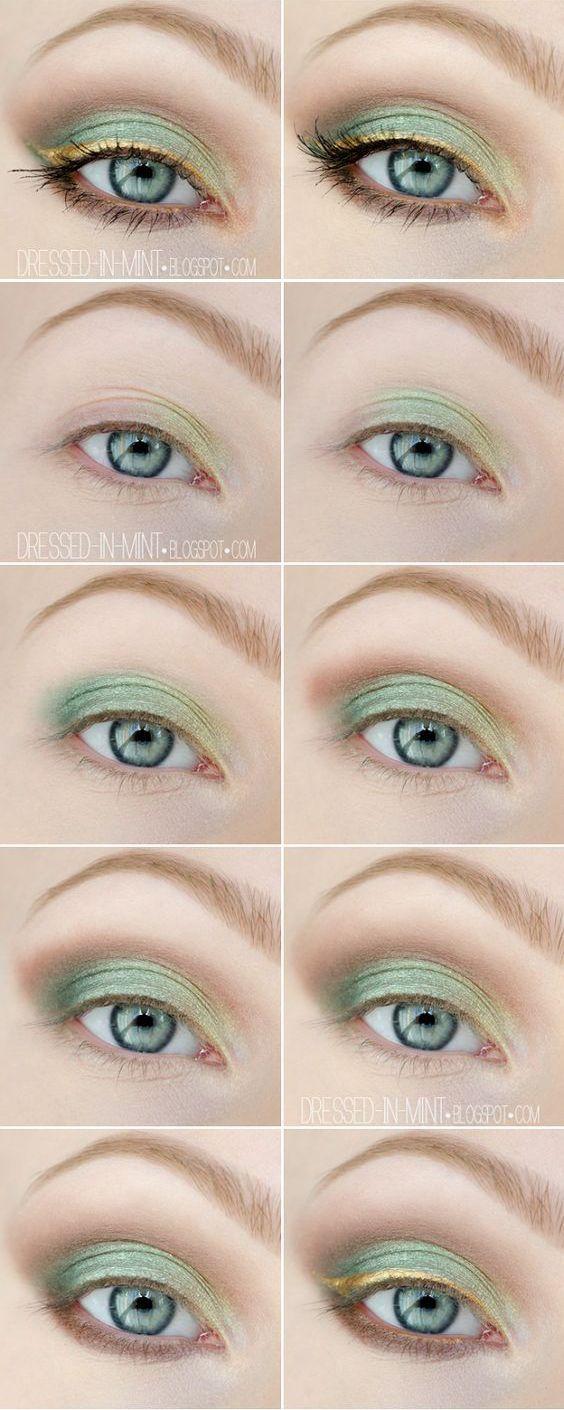 макіяж для зелених очей покроково