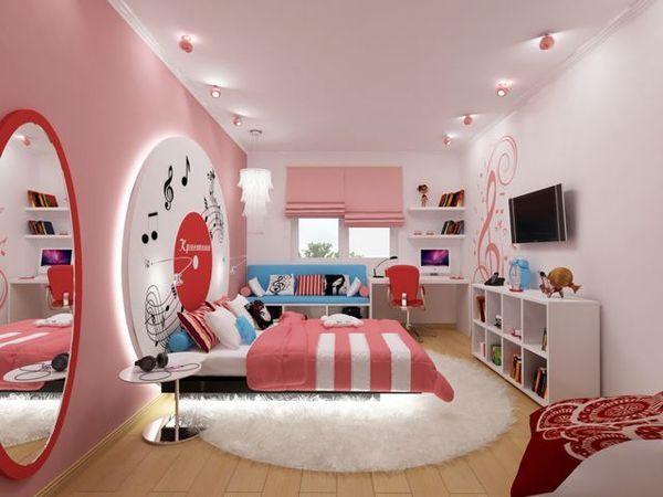 дизайн дитячої кімнати в рожевому кольорі