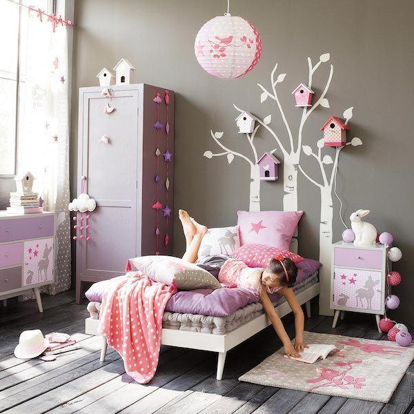дизайн дитячої в сіро-рожевому кольорі