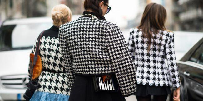 30 Фото-відповідей на питання: з чим носити «гусячу лапку»