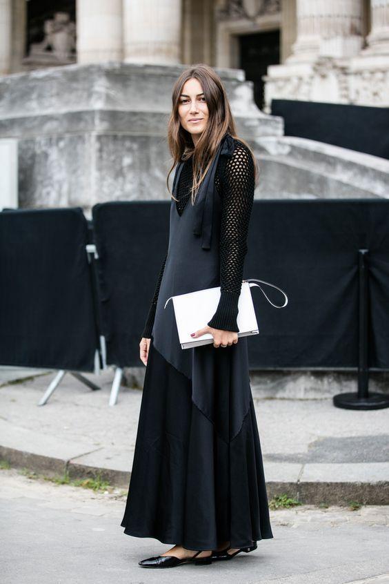 білий клатч з чорним вбранням