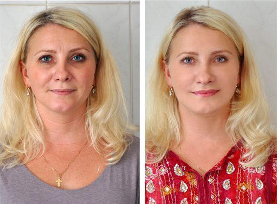 крем від зморшок фото до і після