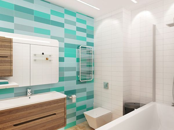бірюзова плитка в ванні