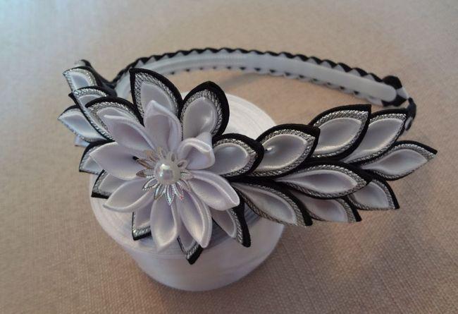 Чорно-білий обруч канзаші - майстер-клас зі створення стильного прикраси