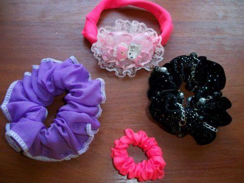 Чотири гарні гумки для волосся своїми руками - майстер-класи для модниць і їх мам