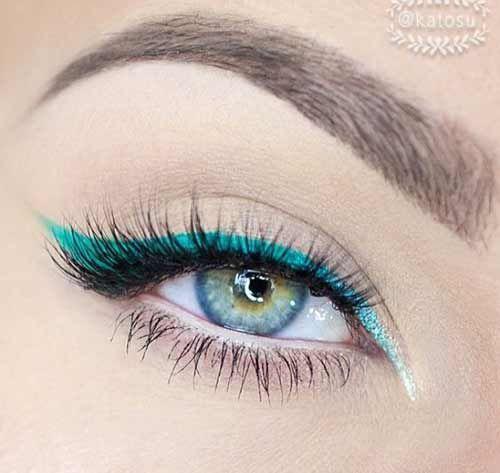 Кольорова підводка: цікаві ідеї для будь-якого кольору очей