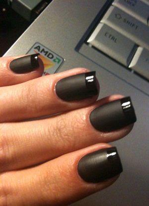чорні матові нігті