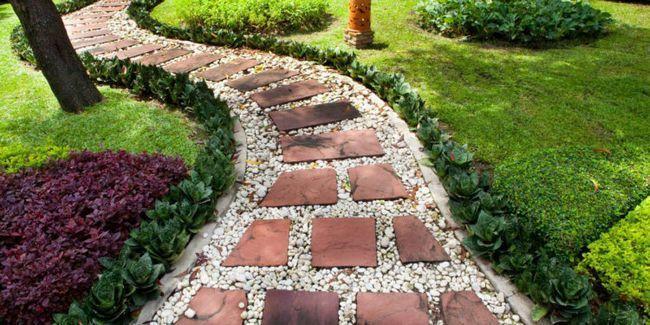Дизайн садових доріжок на дачі: фото оригінальних ідей