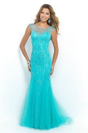 блакитне вечірню сукню