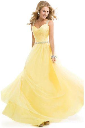 жовте вечірню сукню