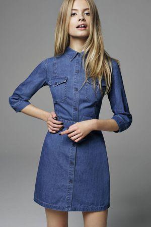 плаття сорочка з деніму