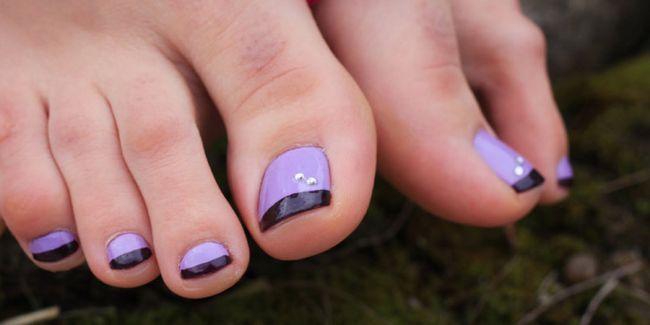 Французький педикюр: фото дизайну нігтів