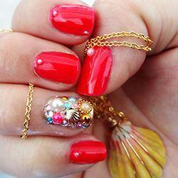 манікюр з декором нігтів