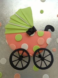 торт у вигляді коляски