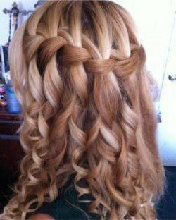 Як робиться зачіска водоспад?