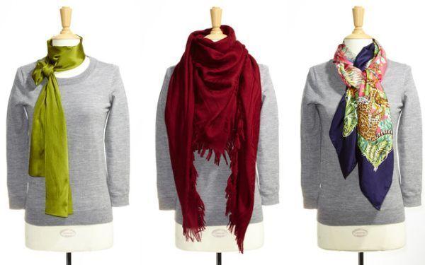 Як красиво носити шарф на шиї і голові - новий образ кожен день