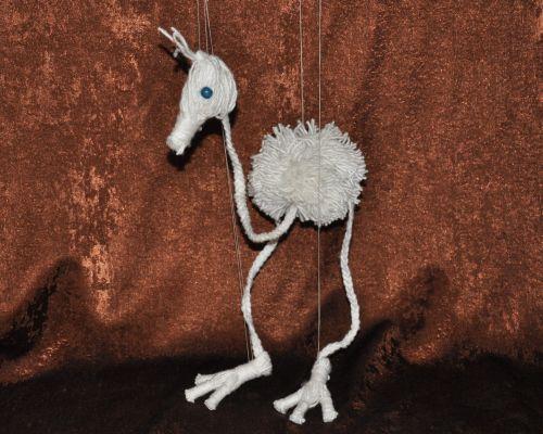 Як зробити іграшку з ниток своїми руками - рухливий птах для дітей