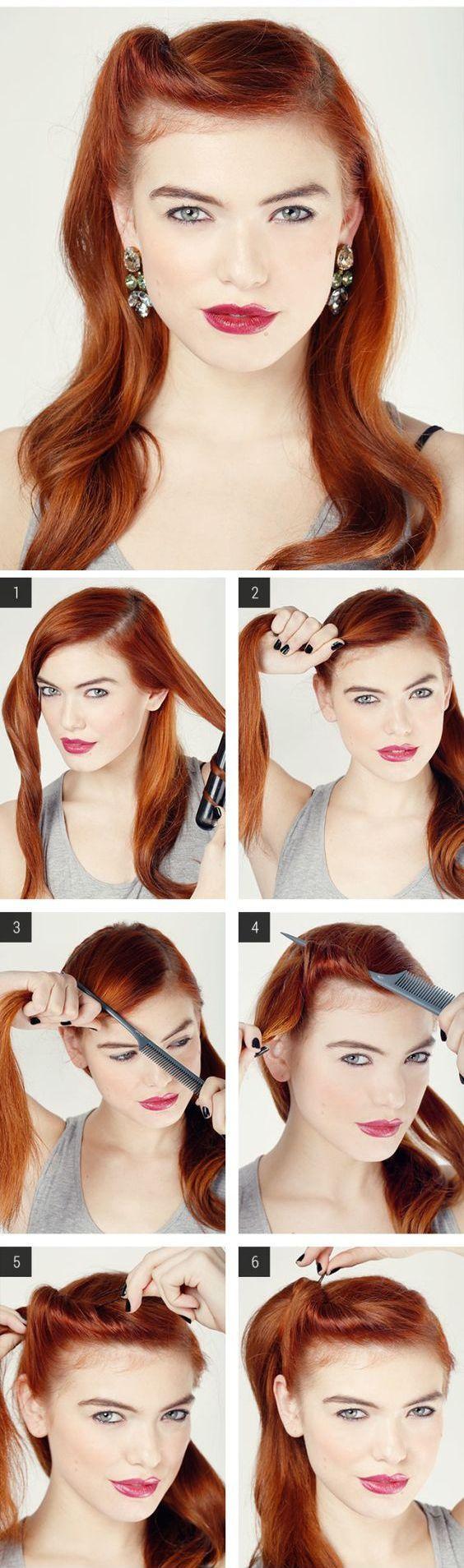 зачіска в ретро стилі покрокова інструкція