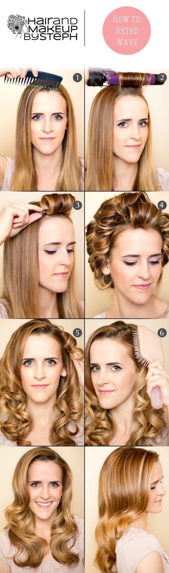 проста ретро зачіска