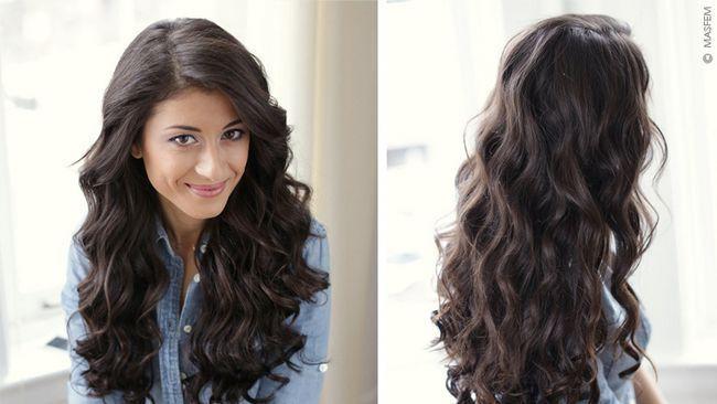Як зробити об`ємні локони на довге волосся