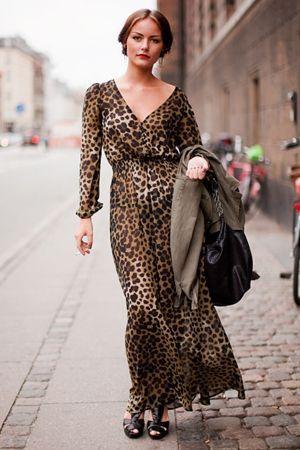 леопардового плаття в підлогу
