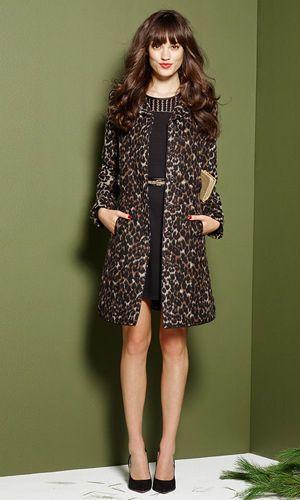 елегантне леопардове пальто