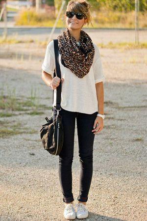 леопардовий шарф