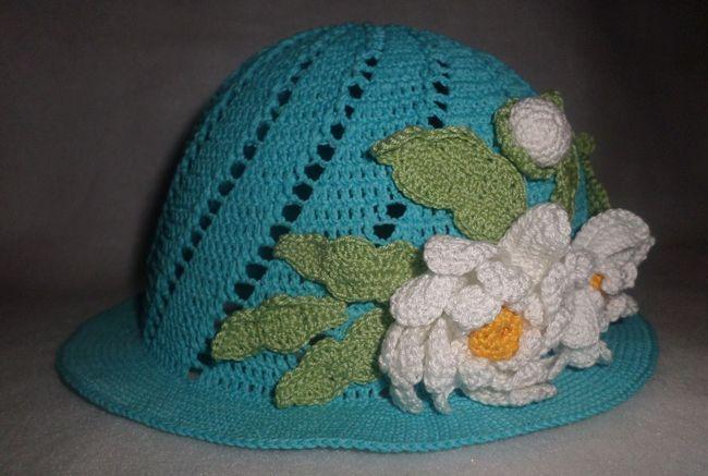 Як зв`язати дитячу літню шапочку гачком - модна капелюшок для дівчинки