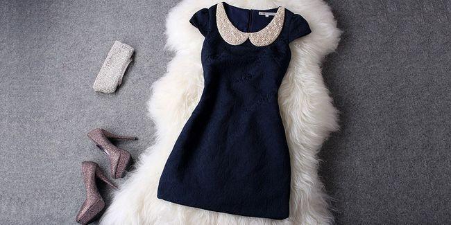 Як вибрати аксесуари до синього сукні
