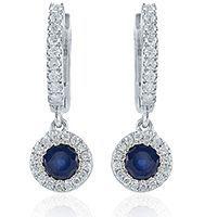 красиві сережки з каменем