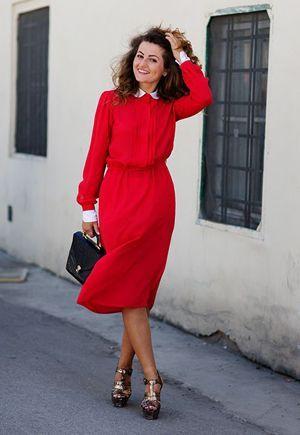 червоне плаття на кожен день