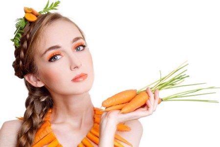 Маска для обличчя з моркви