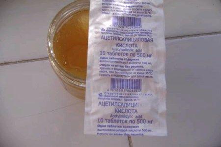 Маска для обличчя з аспірином і медом
