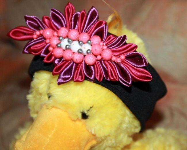 Майстер-клас виготовлення канзаші-пов`язки на голову з розкішним квіткою