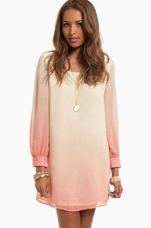 рожеве плаття з градієнтом