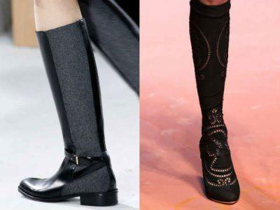 Модні чоботи 2016, шпилька, класика, шнурівка