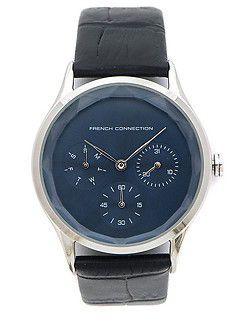 наручний годинник з чорним ремінцем
