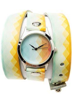 жіночий годинник з оригінальним ремінцем