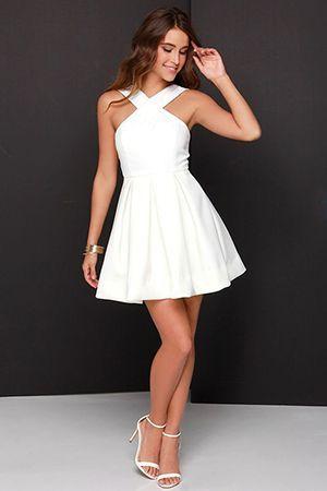 короткий біле плаття
