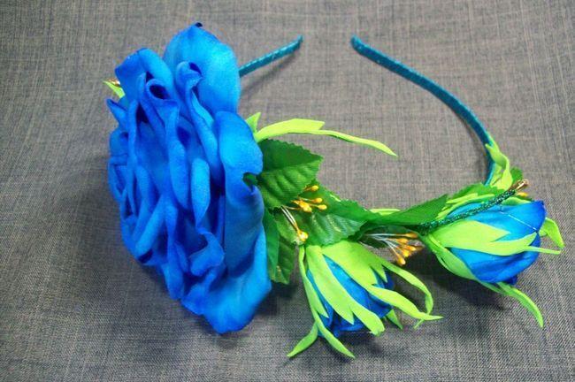Ободок для волосся з трояндою з пластичної замші - майстер-клас для початківців
