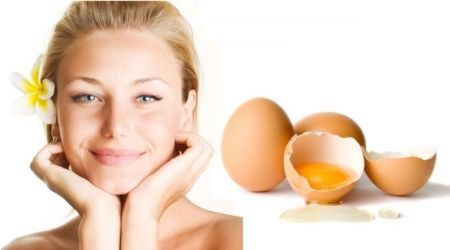маска, що омолоджує з яйцем