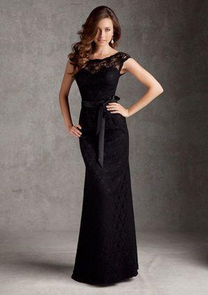 чорне плаття в підлогу