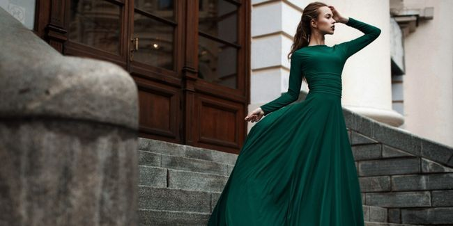 Плаття зеленого кольору: фото чарівних образів