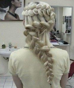 Плетіння коси «дракончик»
