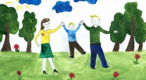 Допомагаємо дітям намалювати маму і тата змальовуючи або по пам`яті