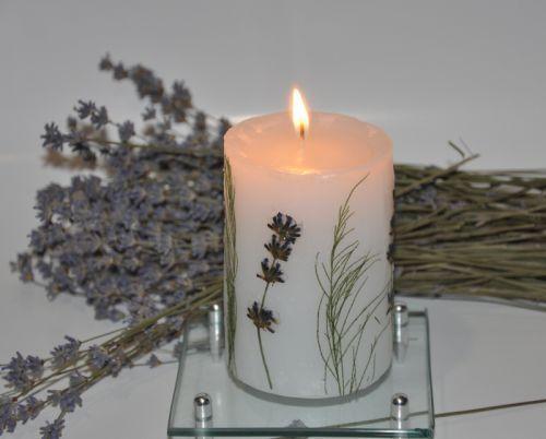 Покроковий майстер-клас з виготовлення свічки з сухоцвітом в домашніх умовах