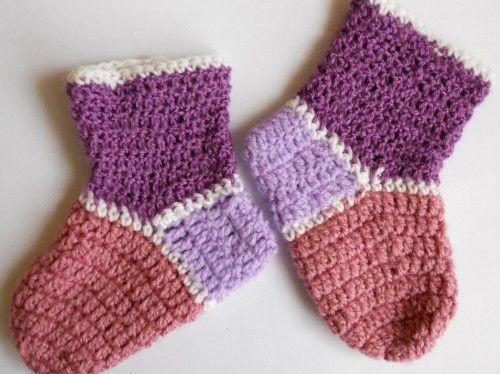 Покроковий майстер-клас з в`язання дитячих шкарпеток гачком для початківців - модель для малюків