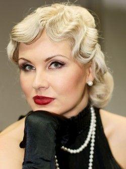 Зачіски в стилі 30-х для образу фатальної жінки